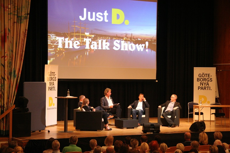 Just D. The Talk Show. På Demokraternas årsmöte 14 maj 2018