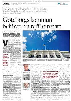 Martin Wannholt, Jessica Blixt och Henrik Munck skriver, GP debatt 29 oktober 2018