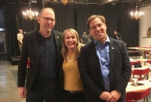 Martin Wannholt, Jessica Blixt och Henrik Munck. Nyvalda kommunalråd för Demokraterna 22 november 2018.