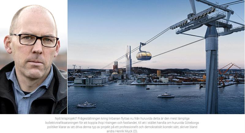 Henrik Munck och Joakim Rosdahl om linbanan.