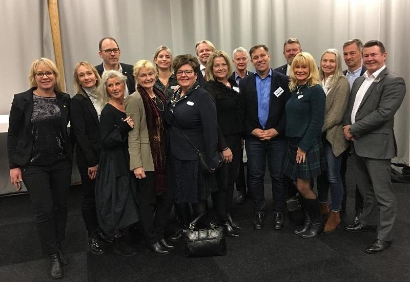 Demokraternas kommunfullmäktigegrupp vid årets sista kommunfullmäktige som hölls i Svenska Mässans lokaler 20 december 2018.