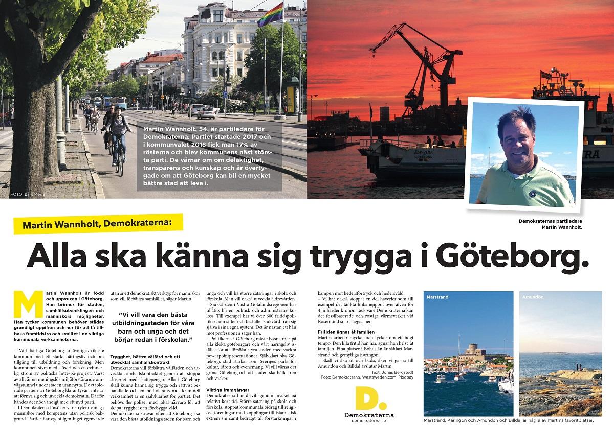Intervju med Demokraternas Martin Wannholt i magasinet Sommarpärlor.